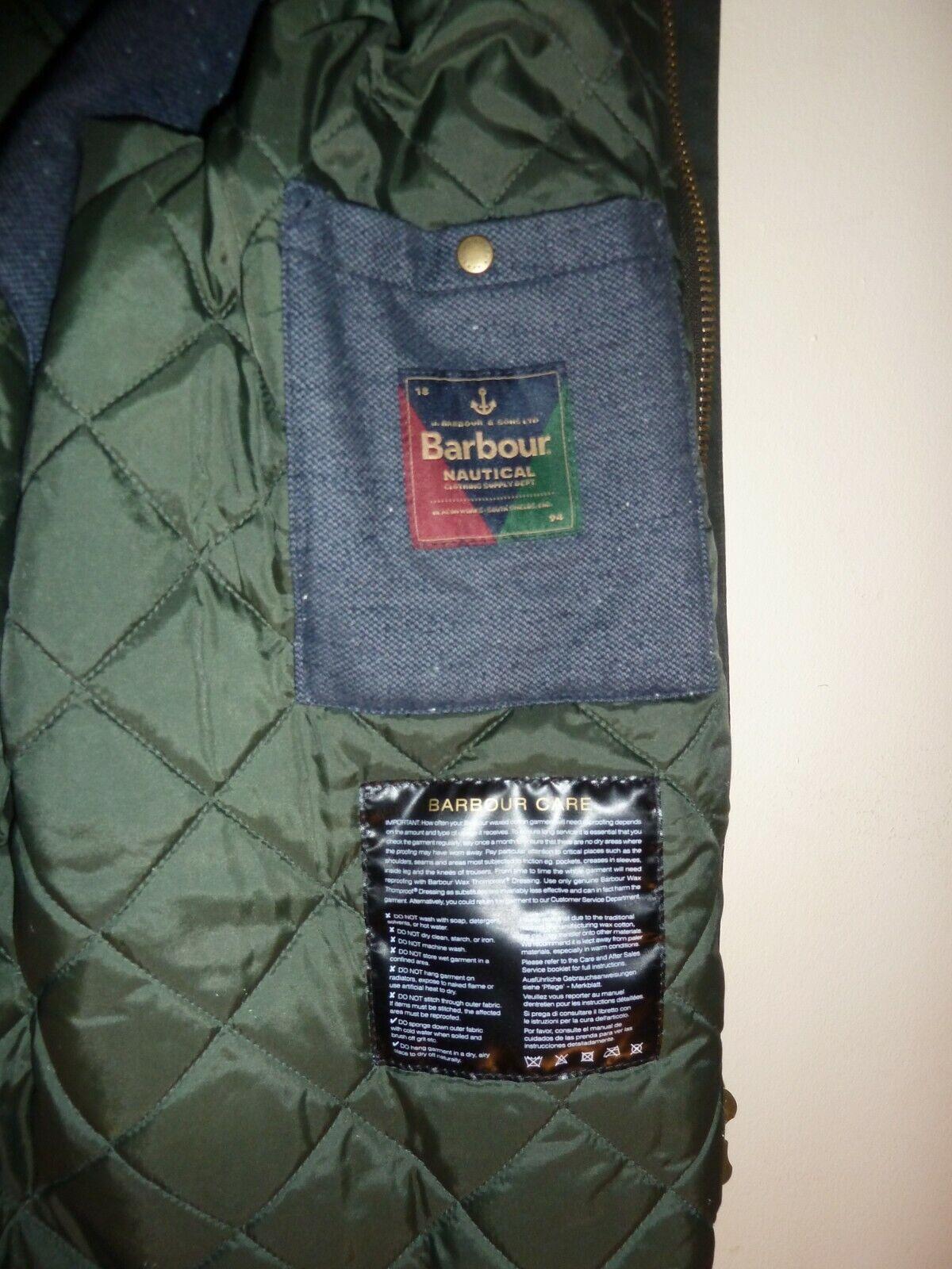 Barbour Nautical Wight Wax Jacket Waxed MWX1397 J… - image 12