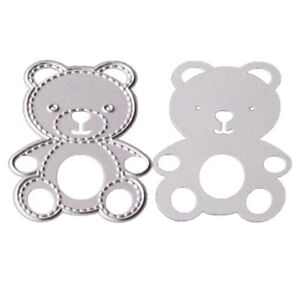 Brand-New-Teddy-Bear-Animal-With-Stitched-Edge-Metal-Die-Cutter