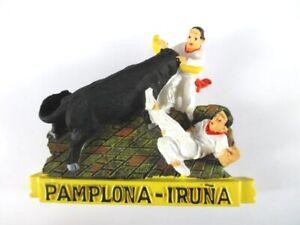 Capable Aimant Pampelune Taureau Moulés, Souvenir Espagne Spain, Neuf. *-enir Spanien Spain,neu.*fr-fr Afficher Le Titre D'origine Excellente Qualité