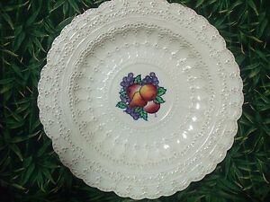 Vintage-SPODE-039-S-JEWEL-Copeland-Very-Lacey-Look-Fruit-Plate