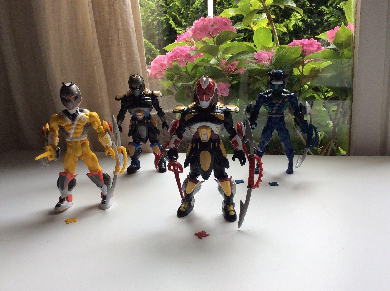 Lot De 4 Figurines Ninja Sunco Année 2004