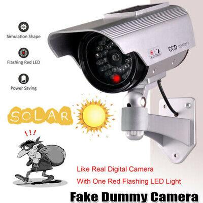 Solar Power Dummy Fake Security RED LED CCTV CCD Camera Surveillance Varities