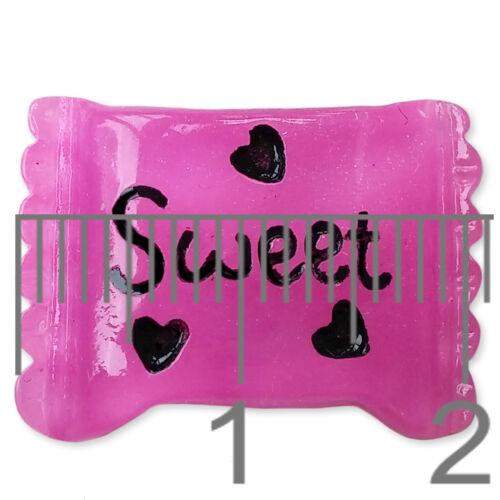 5pcs Glitter Candy Flatback Resin Cabochon Embellishment Scrapbooking Kawaii