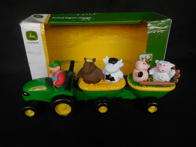 Child S Toy John Deere Animal Sounds Hayride New In Box