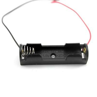 2PCS Lab Home DIY Experiment Test 1 AA Battery 1.5V Storage Holder Box Case&Lead
