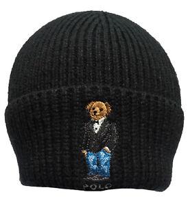 0890527259 Details about Polo Ralph Lauren BEAR Men's Cuffed Beanie Knit Hat, Cotton  Wool Blend LIMITED