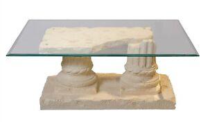 Antiker steintisch marmortisch couchtisch glastisch wohnzimmertisch 100cmx70cm ebay - Antiker wohnzimmertisch ...