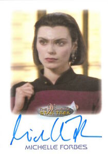 WOMEN-OF-STAR-TREK-2010-AUTOGRAPH-Michelle-Forbes-as-Ensign-Ro-Laren