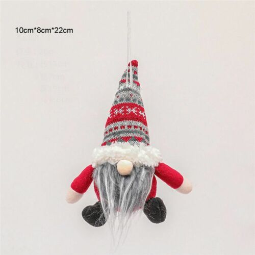 Christmas Gnome Plush Doll Pendant Xmas Tree Hanging Ornament Party Best Gift