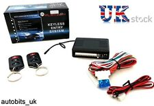 Universal Remote Central Locking Upgrade Kit Keyless Entry +2 Fobs LED flash NEW