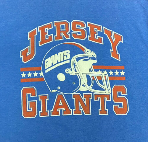 Vintage 80s NFL New York Giants T Shirt,Screen sta