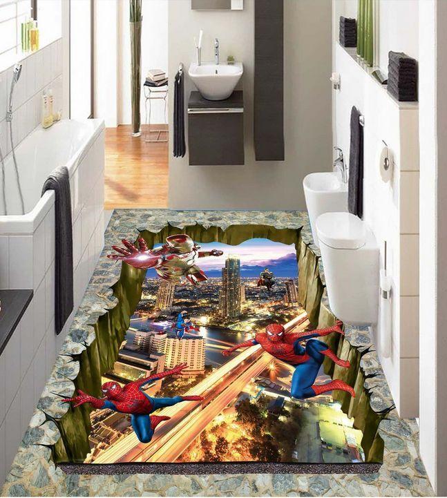 3D Héros 18 18 18 Fond d'écran étage Peint en Autocollant Murale Plafond Chambre Art | Bonne Conception Qualité  f439de