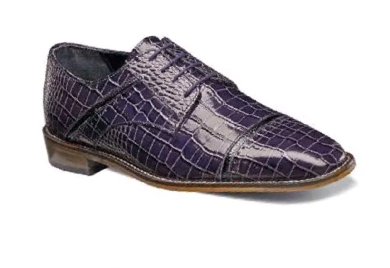 Stacy Adams Raimondo chaussures Homme Prune noir Multi Imprimé Cuir 25115-545
