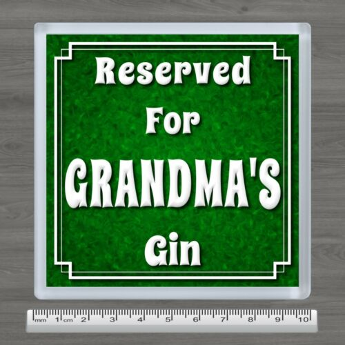 Personalised Vodka or Gin Drinks Coaster Any Name Relative Birthday Gift