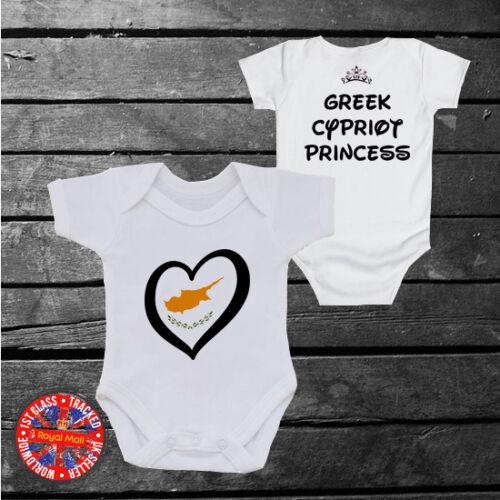 Chypriote grec Princesse Babygrow filles enfants Chypre Cadeau
