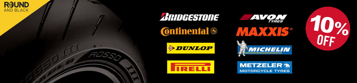 Shop event Save 10% on Road & Off Road Motorcycle Tyres Get set to go with 10% off motorcycle tyres