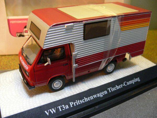 1 43 Premium classeiXXs VW t3 Tischer-CAMPEGGIO CAMPER 11527 Rosso argentoo