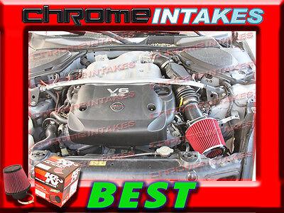 RED AIR INTAKE FILTER ADAPTER FOR 03 04 05 06//2003 2004 2005 2006 INFINITI G35