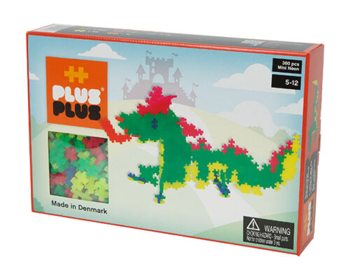 Plus-Plus Mini Drachen Konstruktionsbausteine Bausteine Neon 360
