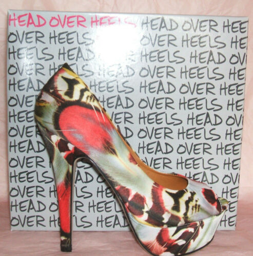 Dune Peeptoe Shoes Dainty Rrp Green 3 Bnwb Or High Court Red £59 4 Floral H Size ffEZ7xAwq