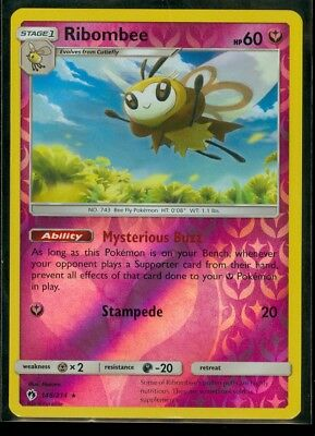 Ribombee 146//214 2018 - NM Lost Thunder Set Rare Pokemon Card