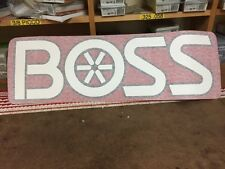 Boss Snow Plow Blade Decal Sticker Label 28 x 8 inches New OEM Free Shipping