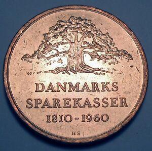 Medals Responsible Lensgreve Frederik Adolf Holstein Denmark Sparekasser 1810-1960 Medallion Superior Performance Exonumia