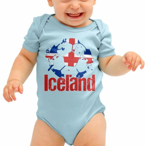 Iceland Football Shirt Vikings Baby Grow Romper Suit Babygrow Newborn Gift B40