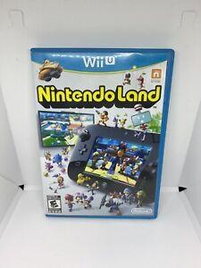 Nintendo-Land-Wii-U-2012-GAME-DISC-ORIGINAL-CASE-amp-MANUAL-TESTED