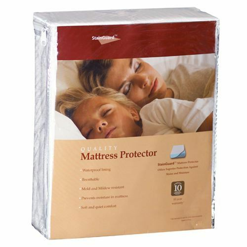 100% Authentic PureCare StainGuard Cotton Terry Mattress Protector 10y-Warranty