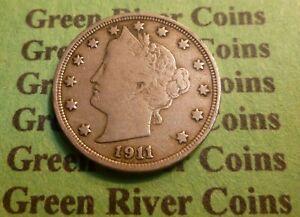 1911 Liberty Head Nickel  #FT11   Better Grade