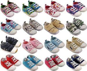 Khaki Floral MiniFeet Canvas Baby Shoes
