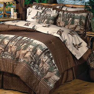 Image Is Loading Whitetail Deer Bedding Comforter Set 4 Sizes With