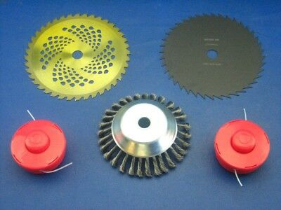 Unkrautbürste mit Klappvisier+Spule für Fuxtec FX-MS152 Motorsense