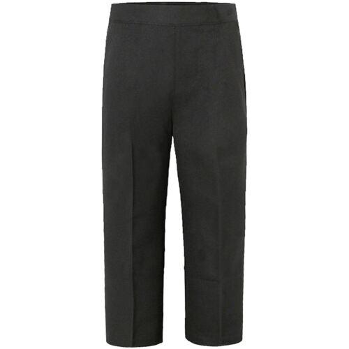 Ragazzi Bambini Back To School Uniform Pantaloni Pull Up Metà Elasticizzati Età 2-12