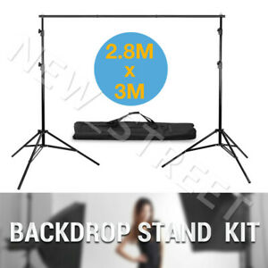 2 8x3m Backdrop Stand Screen Background Support Stand Kit