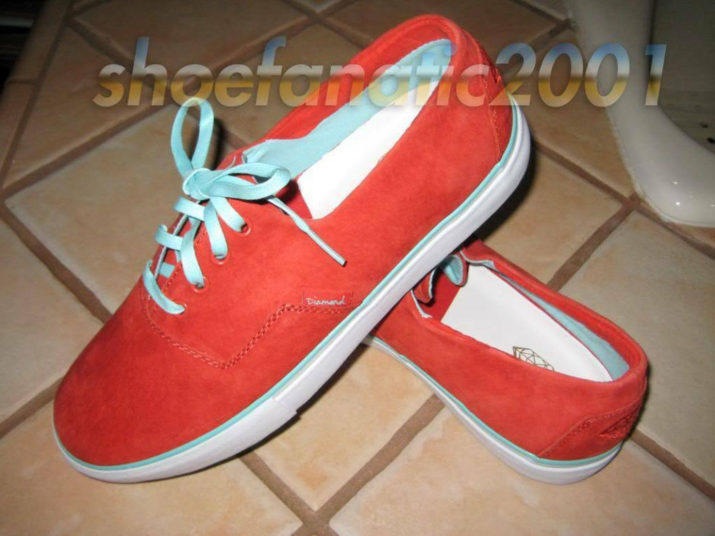 Diamond Supply Co Diamond Diamond Diamond Cuts Genuine Leather rosso Suede Curren y JetLife 8 9.5 dfe464