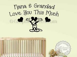 Image Is Loading Nursery Wall Quote Mickey Mouse Sticker Baby Boy