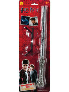 Licensed-Harry-Potter-Accessory-Set-Wand-Glasses-New-Fancy-Dress-Costume-Kit
