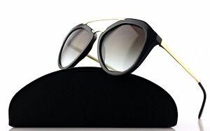 NEW-Genuine-PRADA-Cinema-Catwalk-Black-Gold-Sunglasses-PR-12QS-1AB-0A7-SPR-12Q