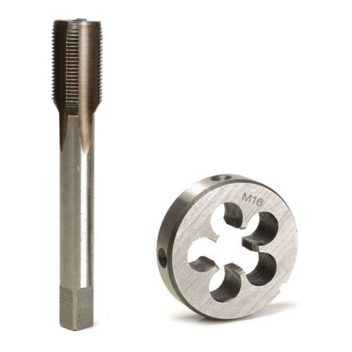 1 Set Hand Tap /& Round Die HSS Right Hand Tapping Cutting Tool Dies M12 M14 M16