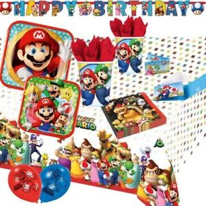 Super Mario Partydeko Geburtstag Luigi Mario Deko Kindergeburtstag
