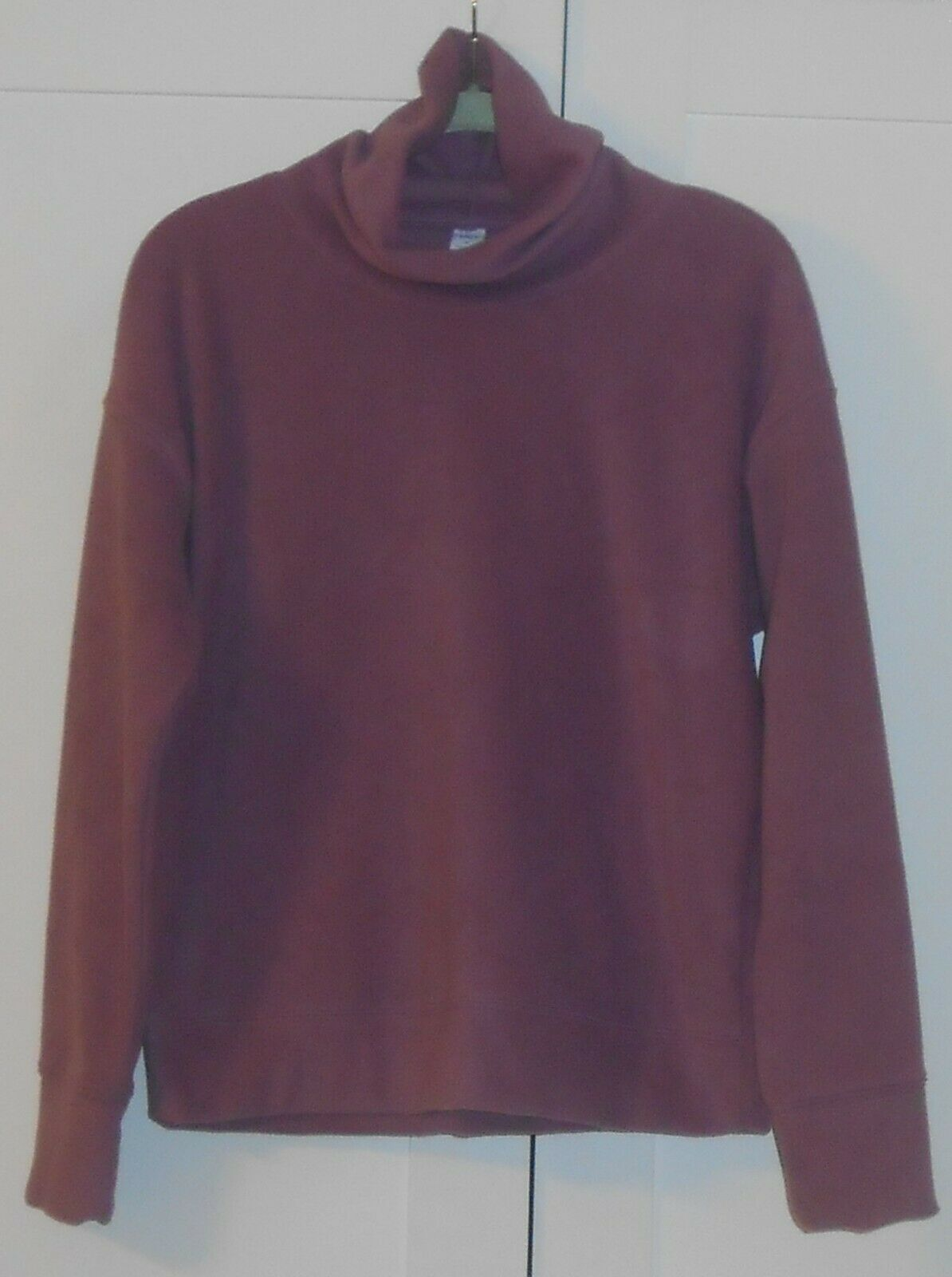 OLD NAVY ACTIVE MAUVE GO-WARM MICRO FLEECE FUNNEL-NECK PULLOVER - SIZE SMALL