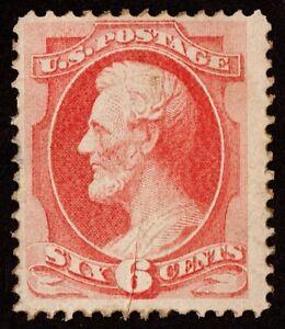 US Sc# 148 Var *UNUSED RG* { PRE-PRINTING PAPER FOLD ERROR } 6c LINCOLN OF 1870