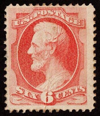 Us Sc# 148 Var *unused Rg* { Pre-printing Paper Fold Error } 6c Lincoln Of 1870 Stamps