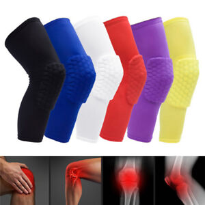 Honeycomb-Pad-Crashproof-Antislip-Basketball-Leg-Knee-Long-Sleeve-Protector-Gear