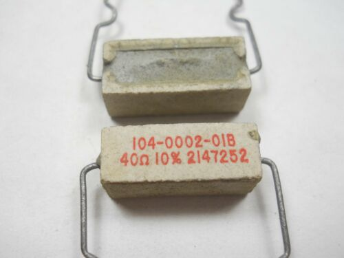 NOS, New Old Stock D56 QTY 10 ea 40 ohm 3 Watt 10/% Wire Wound Power Resistor