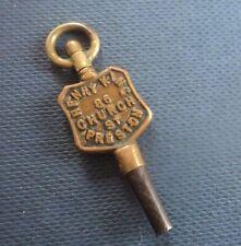 Advertising Pocket Watch Key - Henry King 86 Church St. ,  Preston ,  Lancashire