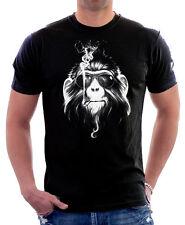 APE fumo pianeta delle scimmie PRIGIONIERO aumento fresco uber Nero T-shirt di Cotone 09826