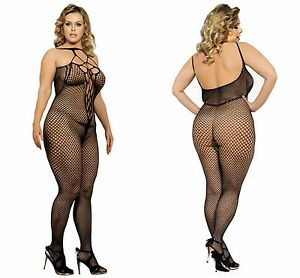488b67782 New Sexy Plus Size Full Length Halter Open Crotch Body Stockings ...